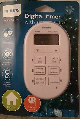 Philips Home Power Digital Timer With Simple Setup