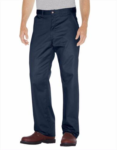 Dickies Homme WP314 marine foncé Premium Coton Plat Avant Pantalon UNIFROM Work Wear
