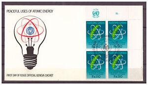 Unie-Nations-Unies-Geneve-FDC-Iaea-Minr-71-Angle-de-L-039-Arc-1977-Esst