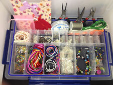 Super Deluxe Jewellery Making Kit including tools, beads, threads and more