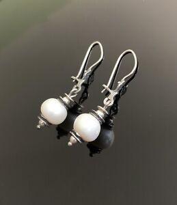 Silpada-925-sterling-silver-Pearl-earrings