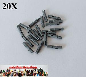 20X-Lego-11214-Technic-Kreuz-Achs-Pins-Verbinder-3L-neues-Dunkelgrau-Gray-NEU