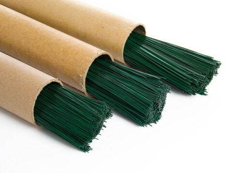 Verde floristería trozo de alambre de elección de calibre y longitud Floristry Cables /& Cant