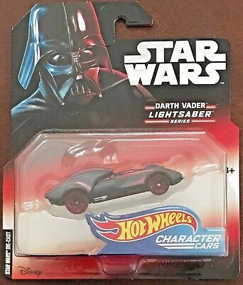 Star Wars Hot Wheels Darth Vader Character Cars NIP 1:64 Scale