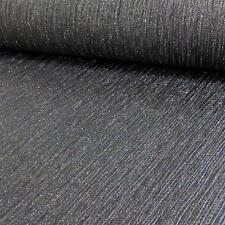 Debona cristallo motivo a righe con texture carta da parati vinilica motivo glitter nero 9003