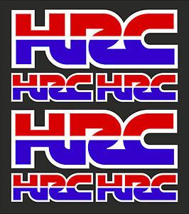 6-x-HONDA-HRC-Decals-Stickers-Honda-Racing-Corporation-set-of-6-decals