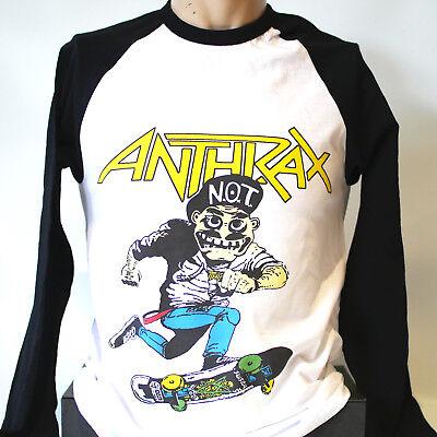 ANTHRAX TRASH METAL ROCK T-SHIRT long sleeve baseball megadeth metallica S-3XL