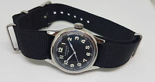 Rara Vintage LONGINES Cuadrante negro Reloj de tamaño medio de viento manual