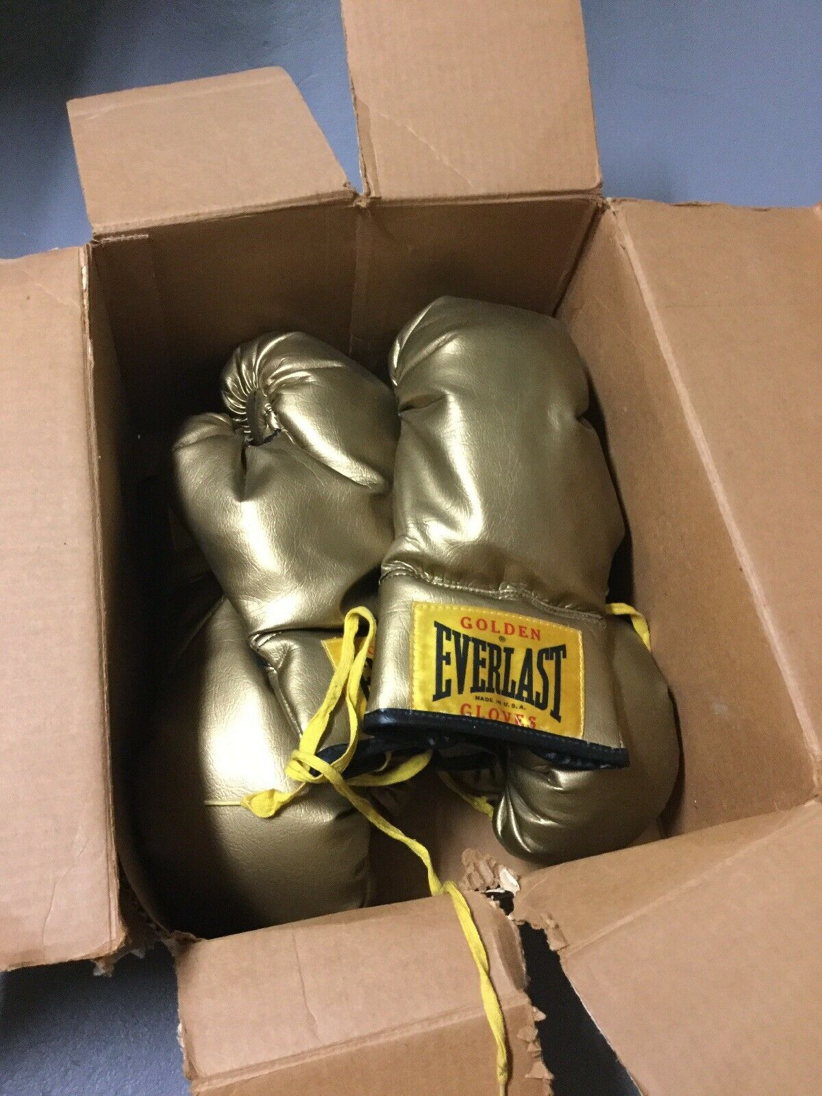 2 Vintage Pairs  Everlast golden G  Boxing G s In Original Box Model 2324  is discounted