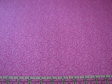 3 Yards Quilt Cotton Fabric- Red Rooster Lavender Fields Magenta Pink Paisley