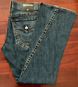 True Religion Jeans Para Hombre Talla 32 Girada Parte Inferior De Campana Hecho En Ee Uu Nuevo Ebay