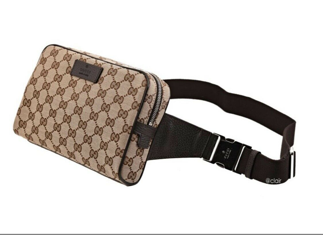 usa cheap sale great discount sale moderate price AUTHENTIC GUCCI WAIST BELT BAG FANNY PACK 449174 GG GUCCISSIMA CANVAS  CROSSBODY