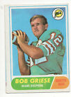 1968 Topps Football Card #196 Bob Griese-Miami Dolphins