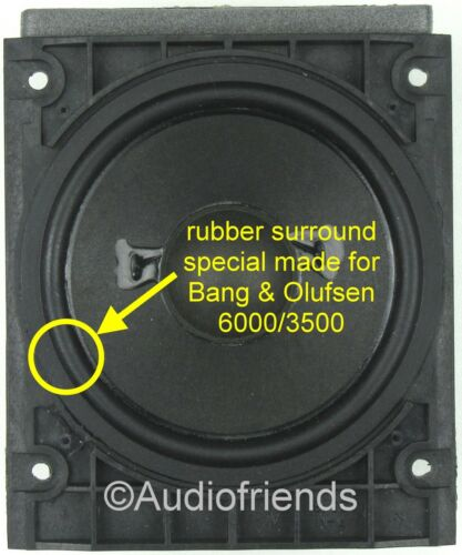 4x Rubber surrounds for speaker repair Bang type 8480239 Olufsen Beolab 6000