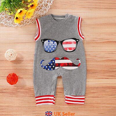 Newborn Baby Boy Jumpsuit Romper Crawling Suit Bodysuit Outfit Tracksuit Clothes