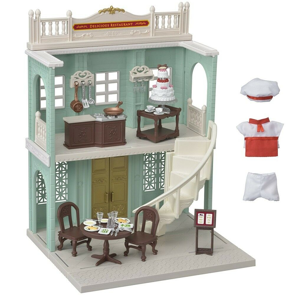 Sylvanian Families town series delicious restaurant Epoch Doll House Accessory