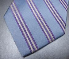 Brooks Brothers Blue White Stripe Classic Silk Neck Tie NWT $115 Hand Made USA