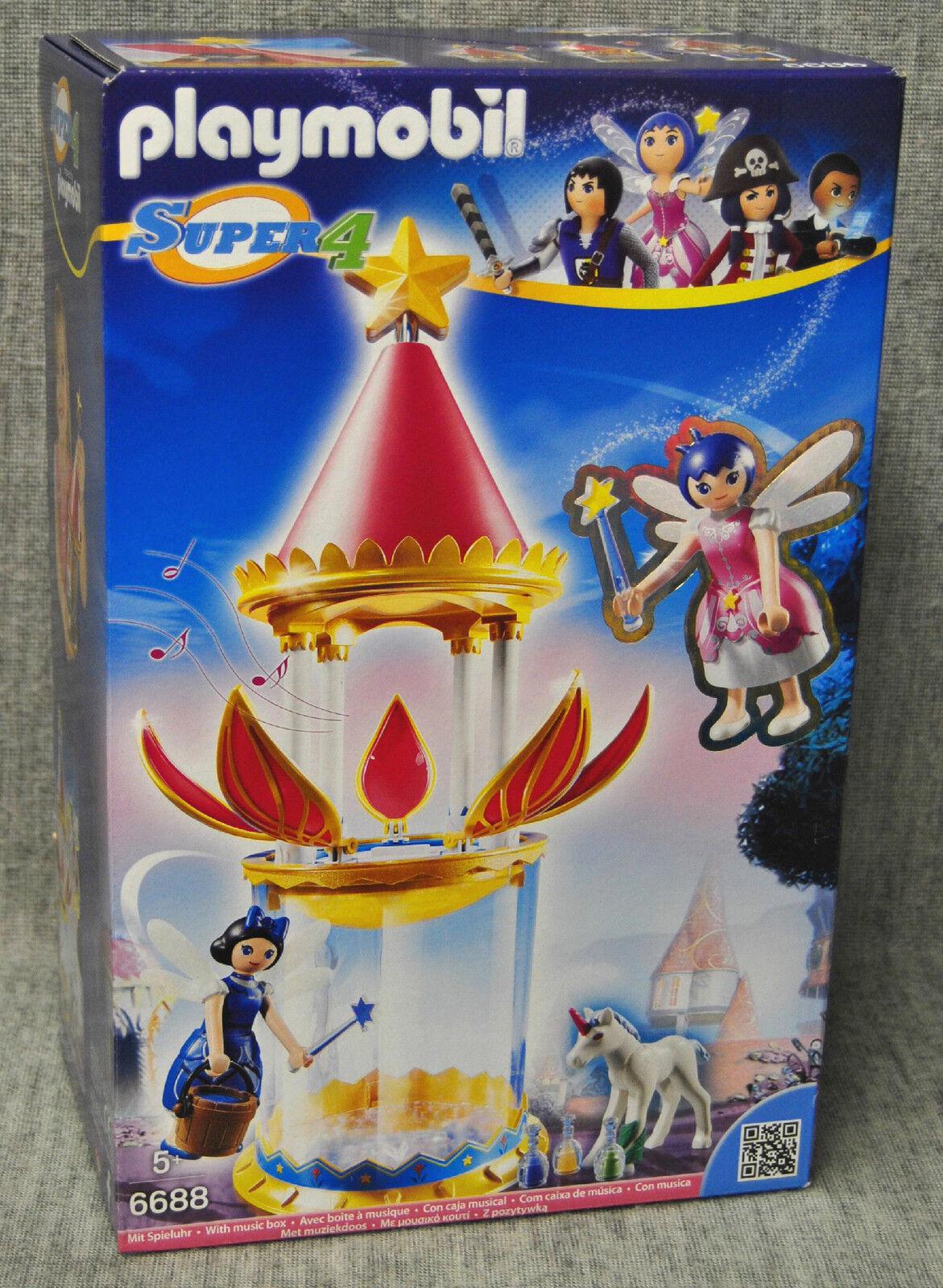 Playmobil 6688 Zauberhafter Blütenturm mit Feen-Spieluhr und Twinkle Super 4 Neu