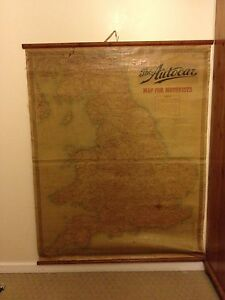 Autocar-vintage-wall-hanging-roadmap-1950-039-s