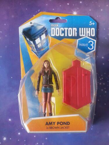 """Doctor Who Amy Pond Giacca Marrone 11TH compagno DR 3.75/"""" figure fuori produzione"""
