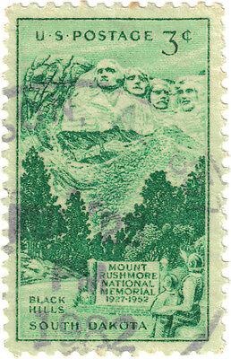 (USA330) 1952 3c green Mt Rushmore SG1008