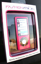 2 FANSHIONATION SPORTS ARMBAND FOR IPOD NANO F-N5A120 PINK CASE FN5A120