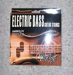 Muta-completa-da-4-Corde-per-BASSO-Elettrico-1-Set-Roling-039-s-Bass-guitar-Strings