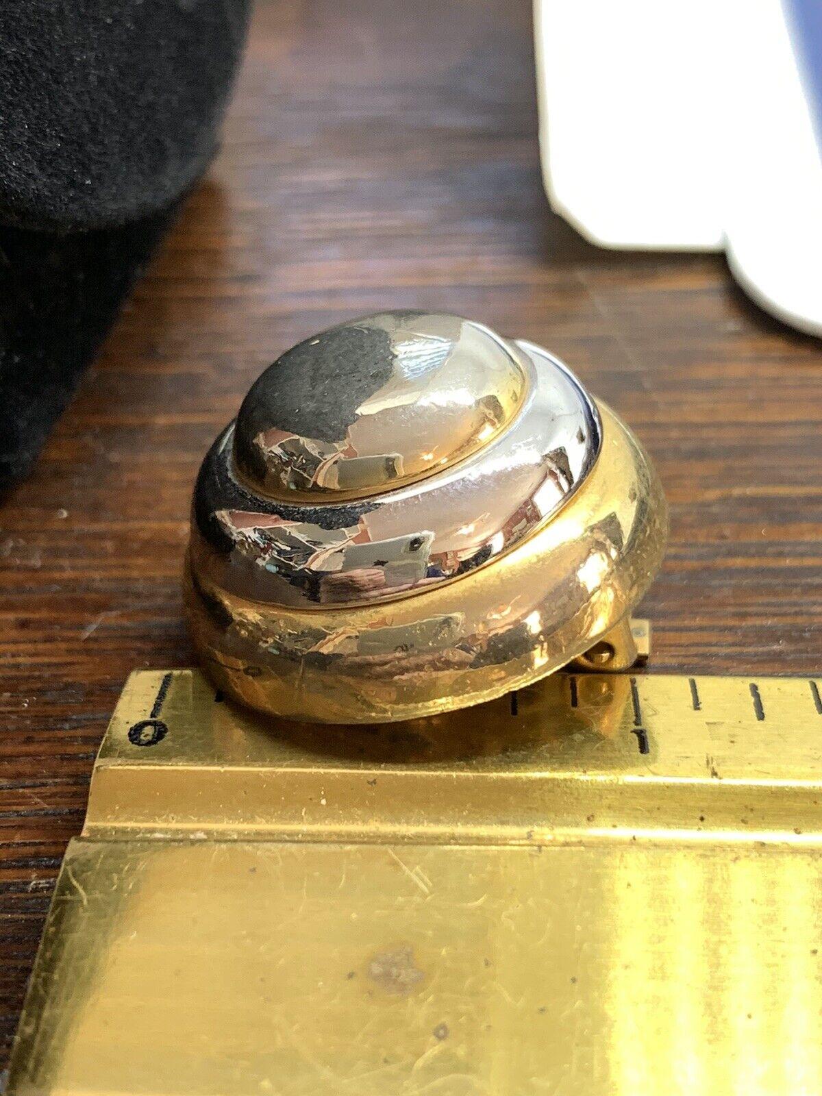 Vintage Lanvin Paris Couture Clip Earrings 2 Tone… - image 8