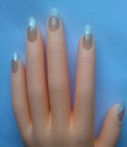 Image Is Loading Full Cover Fake Nails Stiletto Pointy Claw Silver
