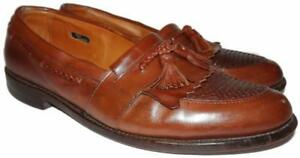 Allen Edmonds Cody Mens Size 11 1/2 B Brown Leather Loafers Read Description