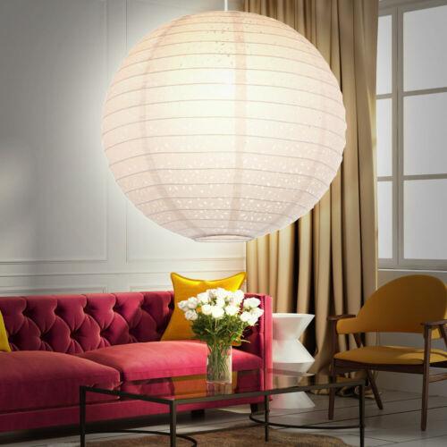 LED Hänge Pendel Leuchte Gästezimmer Kugel Lampe Papier Schirm weiß Big Light