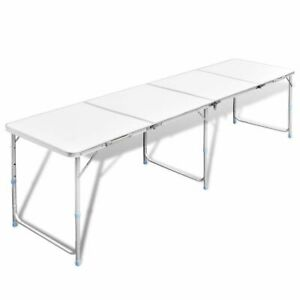 New-Outdoor-Camping-Table-240x60cm-Folding-Picnic-Aluminium-MDF-Garden-BBQ-Party