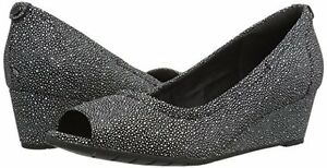 Women's Shoes Clarks Vendra Daisy Classic Open Toe Wedges 24315 Black *New*