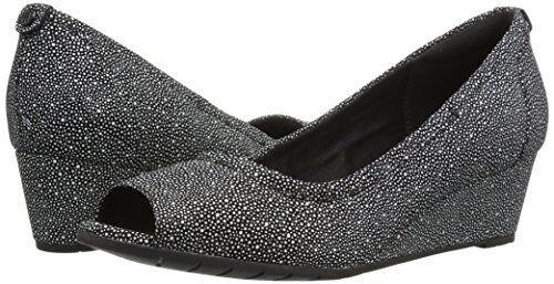 Women/'s Shoes Clarks Vendra Daisy Classic Open Toe Wedges 24315 Black *New*