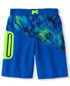 8c2a4c154ce98 Wonder Nation Boys' Swim Trunks Size 4-5 Cobalt Crush | eBay