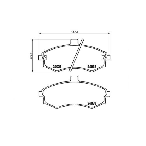 Textar Bremsbeläge vorne für Hyndai Elantra Matrix 1,5-2,0 D CRDi 16V