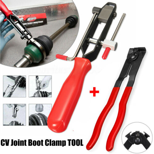 2X CV Clamp /&Joint Boot Clamp Banding Ear Type Crimps Flattens Pliers Tool USA