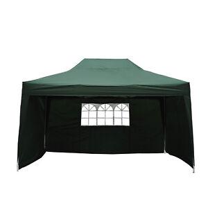 Outsunny Tonnelle Barnum Tente de Réception Pliante 3 x 4,5 x 3,2 m Vert