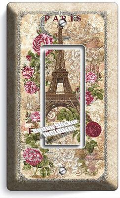 RETRO PARIS EIFFEL TOWER AD SINGLE GFCI LIGHT SWITCH WALL PLATE COVER HOME DECOR