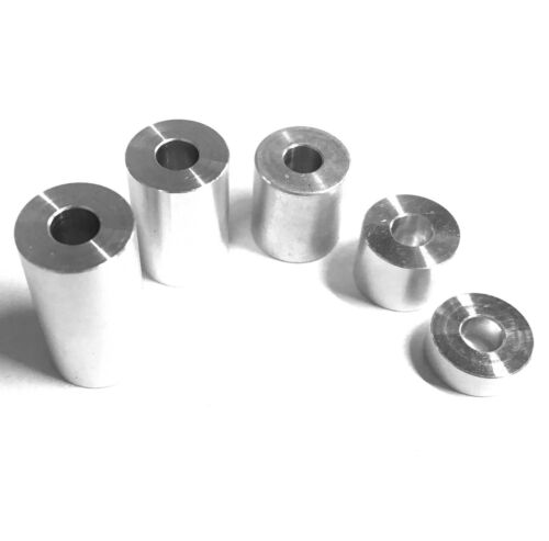 Aluminium Spacers M4 x 10mm O//D Standoff Stand off Bar Turned Bonnet Raisers