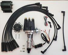 Small Cap Pontiac 350 389 400 455 Black Hei Distributor 50k Coil Plug Wires