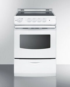 "Summit REX242WRT 24"" Slide In Electric Range Smooth Top ..."