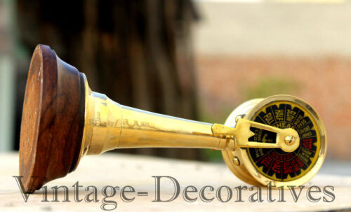 Nautical-Table-Top-Brass-Telegraph-Handmade-Vintage-Ship-Engine-Room-Telegraph