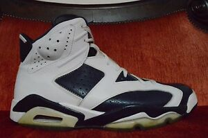 differently 7b8c5 c390d Details about Nike Air Jordan 6 XI Retro Olympic 2012 Size 12 384664 130  Blue White