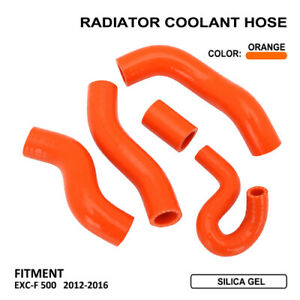 Silicone-Radiator-Coolant-Hose-Kit-For-KTM-EXCF-EXCF500-2012-2016-2013-2014-2015