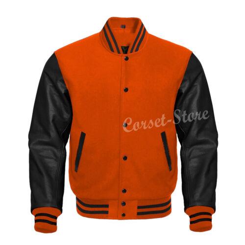 Varsity Letterman Veste en laine /& cuir véritable manches tailles 3XS-7XL