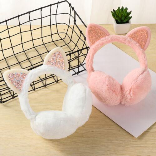 Winter Warm Earmuffs For Women Girls Cat Ears Cat Ear Outdoor Warm Earmuffs