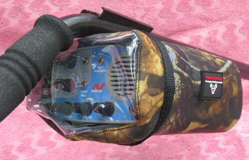 NEOPRENE CAMO-METAL DETECTOR MINELAB SOVEREIGN ELITE//GT CONTROL BOX COVER