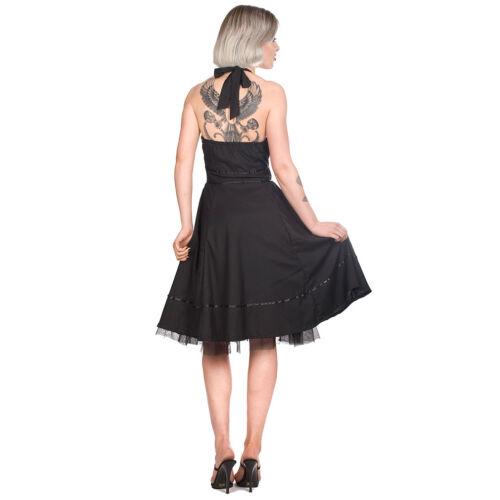Sixities Black Pistol Goth 50e-Jahre Rockabilly Retro Swing Vintage Kleid