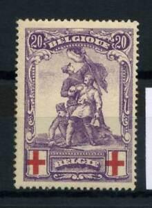 Belgio-1914-Mi-106-Nuovo-100-Croce-rossa-20-C
